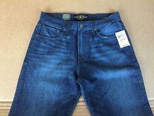 NW Lucky (Size 30W X 34L) Men 429 Classic Straight Relaxed Tapered Leg DarkBlue
