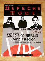 "DEPECHE MODE 2009 BERLIN KONZERT POSTER OLYMPIASTADION "" TOUR OF THE UNIVERSE """