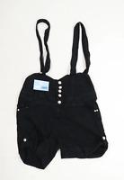 Womens MK Black Cotton Dungarees Size 14/L5