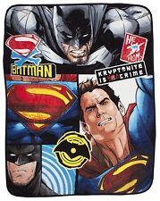 Neuf BATMAN VS SUPERMAN choc Couverture Couvre-lit polaire - Film pour enfants