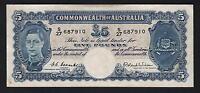 Australia R-48F. (1952) Five Pounds. Coombs/Wilson - 1st Prefix S/27..  VF
