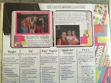 CREATIVE MEMORIES BRIGHT SNAP PACK ALBUM KIT PAPER & STICKERS