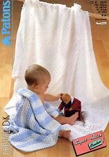 Baby Pram blanket crochet pattern in DK # 0050