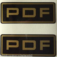 SUZUKI RG400 RG500 GSXR750 GSXR1100 XN85 PDF FORK CAUTION WARNING DECALS X 2