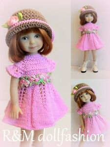 """R&M DOLLFASHION OOAK ROMANTIC LINE set outfit for EFFNER 8"""" Heartstring Doll"""