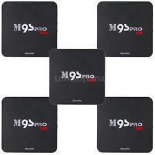 5pcs M9S-PRO Android 6.0 S905X Quad Core Smart TV Box WiFi H.265 4K 3D Movies