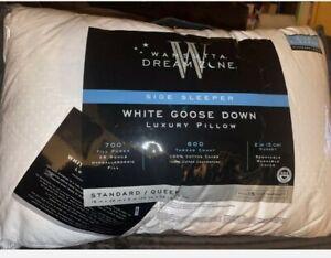 New Wamsutta Dream Zone Standard Queen White Goose Down Side Sleeper Pillow 219$
