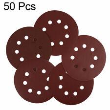 50pcs 5 Inch 8 Hole Hook and Loop Sanding Discs Sandpaper 320 400 800 1000 Grit