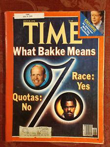TIME July 10 1978 BAKKE Race Jimmy Carter Albert Camus Mary Frank Newport Jazz