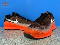 Nike Air Zoom Vapor X Knit Mens Sz 12 Black White Dark Grey Hot Lava AR0496-002