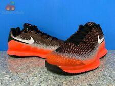 Nike Air Zoom Vapor X Knit Mens Sz 10 Black White Dark Grey Hot Lava AR0496-002