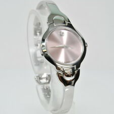 Ladies Movado 84 A1 1846 KARA Quartz Pink Museum Dial 6'' Stainless Wrist Watch