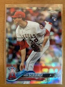 2018 Topps Chrome Refractor #164 Troy Scribner Rookie Angels
