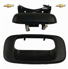 Chevy Silverado Sierra 99 - 07 Textured Blk Tail Gate Door Handle With Bezel Set