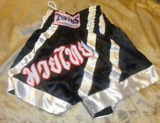 TWINS special MUAY THAI BOXING SHORTS, MMA, K-1,SIZE  XL Black NEW