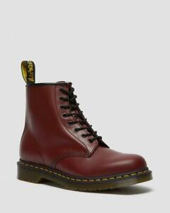 Ladies Dr Martens 1460 Smooth Leather Ankle Boots Oxblood Burgundy UK 6.5 EU 40