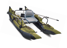Colorado Inflatable Pontoon Boat With Motor Mount Fishing Rafting Lake River
