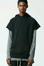 NEW AUTHENTIC MEN'S FOG FEAR OF GOD BLACK SLEEVELESS PULLOVER HOODIE LARGE