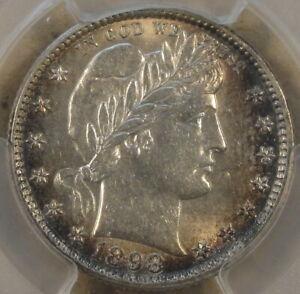 1898-O Barber Quarter 25c PCGS Certified AU58