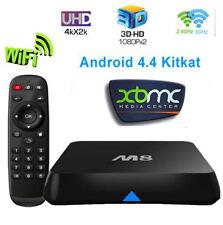 M8s Android 4.4 Smart TV Box Quad Core 4K Kit Kat 2G/8G Media Player