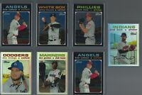 (7) card 2020 Topps Heritage CHROME REFRACTORS Serial Numbered LOT