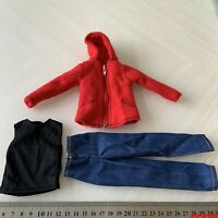 1/6 Red Jacket & Vest & Jeans Clothes Suit Set 12'' Figure Outfit Accessory