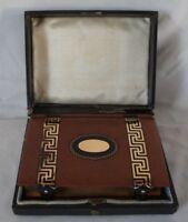 BIBLE 1930 ETUI D'ORIGINE PAROISSIEN ROMAIN EDITION BIJOUX  L MULO PARIS P11