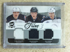 11-12 UD The Cup Jersey Trios Jets MARK SCHEIFELE / KLINGBERG / PAUL POSTMA /25