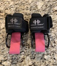 HAULIN HOOKS 'WOMENS' Weightlifting Hooks & Straps Combo Pink