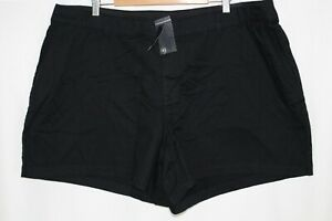 Lane Bryant Women's Girlfriend Shorts Stretch Plus Size 24 Black
