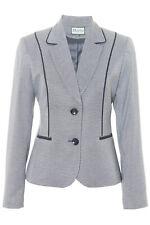Busy Ladies Geometric Design Jacket Blazer in Navy and Grey