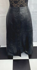 TOGETHER BLACK LEATHER MAXI SKIRT - SIZE 20