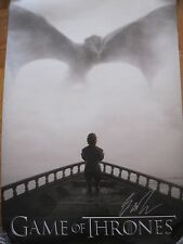 GAME OF THRONES POSTER GOT SIGNED BY GEORGE R. R. MARTIN AUTOGRAPH WINTER HBO