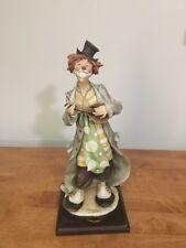 """Rare Giuseppe Armani Florence Figurine Strumming Clown 1560E 13"""" Mandolin"""