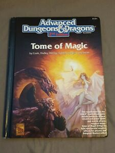 Advanced Dungeons and Dragons 2nd Edition Tome of Magic 2121 1991 AD&D Hardback