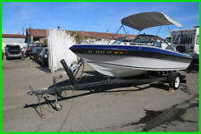 (C) 1988 Fabuglas Co Inc 16' Runabout Bowrider Boat and Tow Trailer NO RESERVE