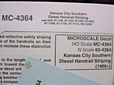 Microscale Decals Stock #MC-4364 Kansas City Southern Handrail Stripes Yellow HO