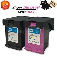 2x 63 XL Black Color Ink Combo for HP Envy 4520 4526 Officejet 3830 4650 Printer