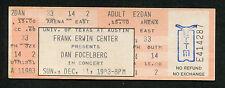 1983 Dan Fogelberg Unused Full Concert Ticket Erwin Center Austin  Innocent Age