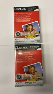 2 x 18C0674 LEXMARK 10 X 15 70 SHEETS 240GSM 18C0674 PAPER