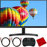 """LG 24"""" FHD IPS LED 1920x1080 AMD FreeSync Monitor w/ Dual HDMI + Keyboard Bundle"""