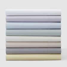 Hudson Park 600 TC Solid Two Ply Cotton TWIN Fitted Sheet DANDELION YELLOW A417