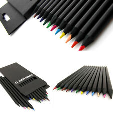 Wooden Drawing Charcoal Pencils Soft Painting Sketch Art Tool Gift 12Colors