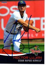 Hector Lujan 2017 Cedar Rapids Kernels Signed Card
