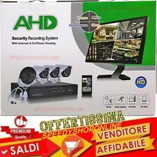 KIT CAMERE VIDEOSORVEGLIANZA AHD IP CLOUD DVR 4 CANALI 4 TELECAMERE HD INFRAROSS