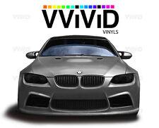 Black matte headlight foglight taillight tint film 10ft x 5ft wrap VViViD Vinyl
