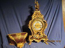 Boulle Uhr  Frankreich/ Paris um 1850 Bronze Vergoldet,  Messing mit Schildpatt