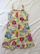 NWOT GIRLS BAMBA Kids 100% cotton dress Yellow Flowers size 6 years