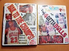 Incredible 1995-96 CHICAGO BULLS 72-win 4th Championship COMPLETE YEAR SCRAPBOOK