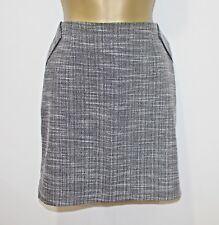 BNWT Smart Mini Skirt Size L UK 12 14 Grey Black Mono Pattern Work Office